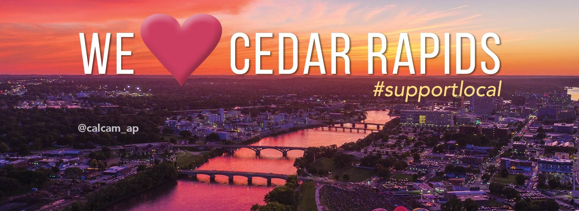 Support local businesses Cedar Rapids