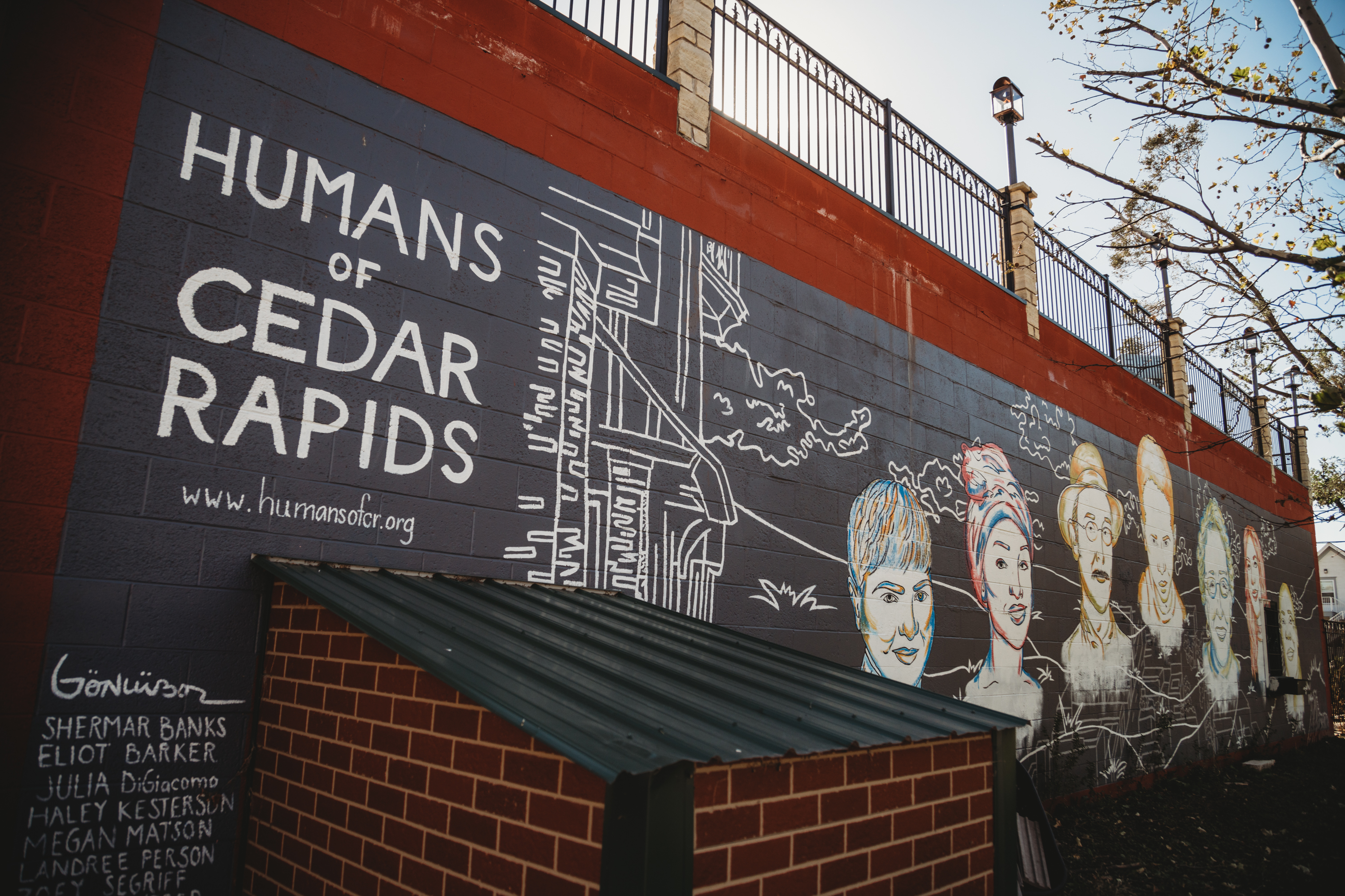 Humans of Cedar Rapids mural