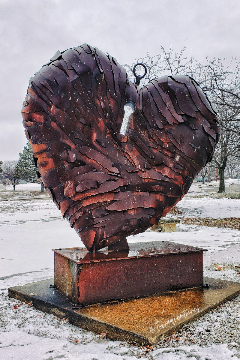 Heart of the Matter public art in Cedar Rapids