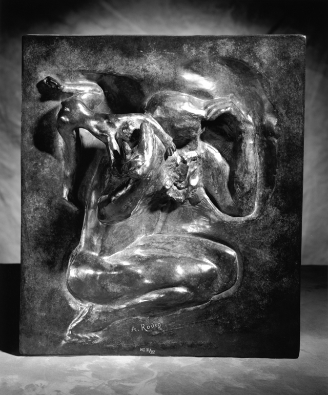Auguste Rodin, The Creator, modeled about 1900; Musée Rodin cast II/IV in 1984, bronze; Coubertin Foundry, 16 x 14 ¼ x 2 ½ inches, lent by Iris & B. Gerald Cantor Foundation. L2016.013.