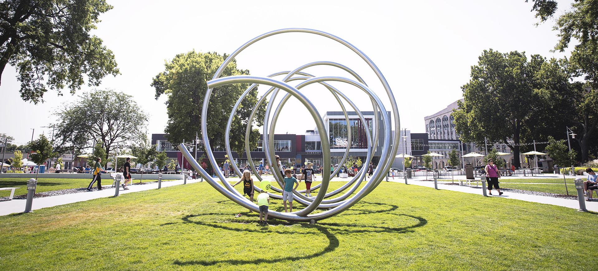 Cedar Rapids park sculpture