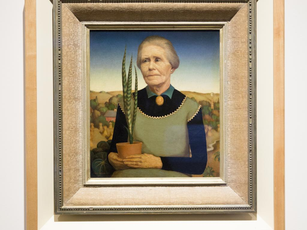 """Grant Wood """"Woman with Plants,"""" 1929"""